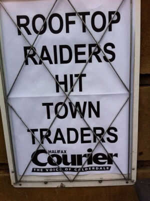Rooftop Raiders Hit Town Traders