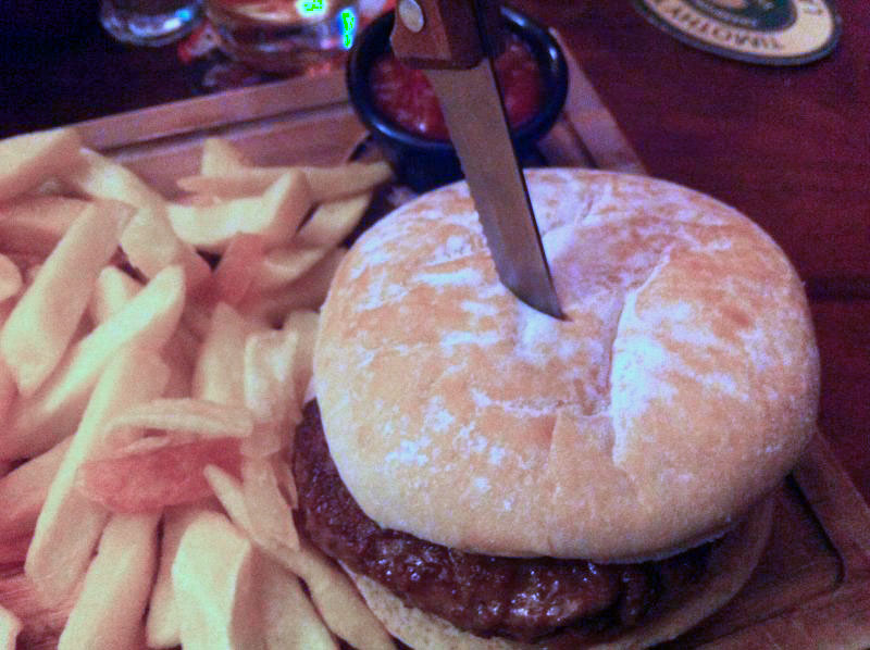 Skewered burger