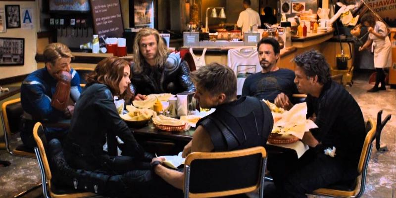 Our superheroes eating