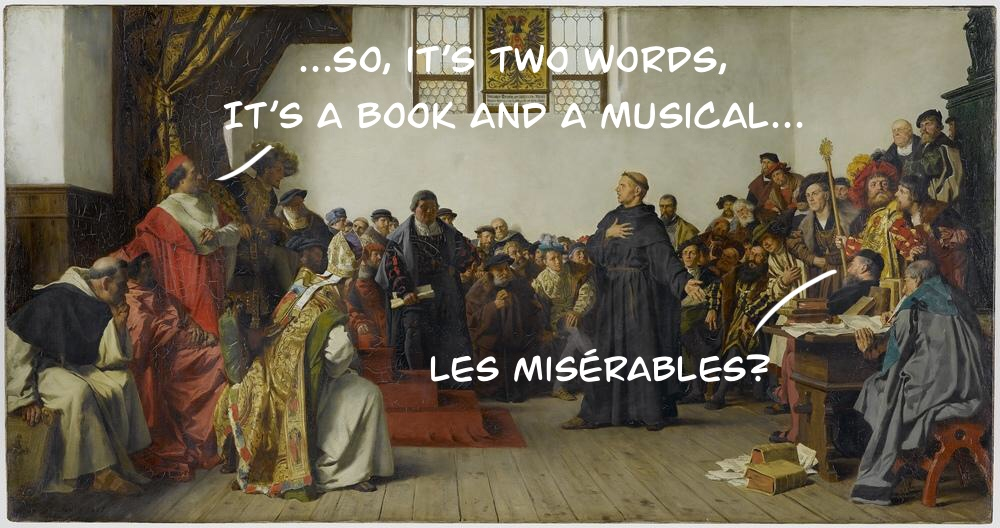 Martin Luther plays charades