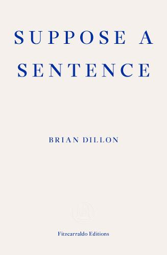 'Suppose a Sentence' by Brian Dillon