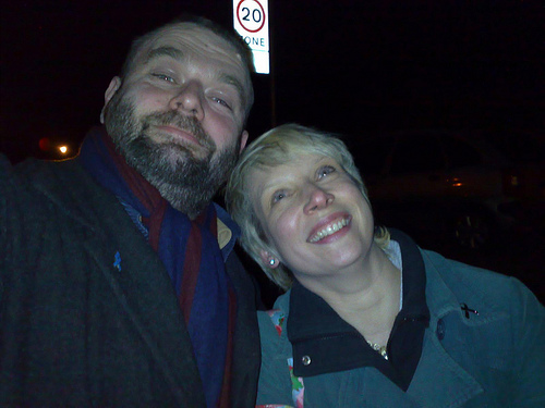 Stense and me (after the pub)